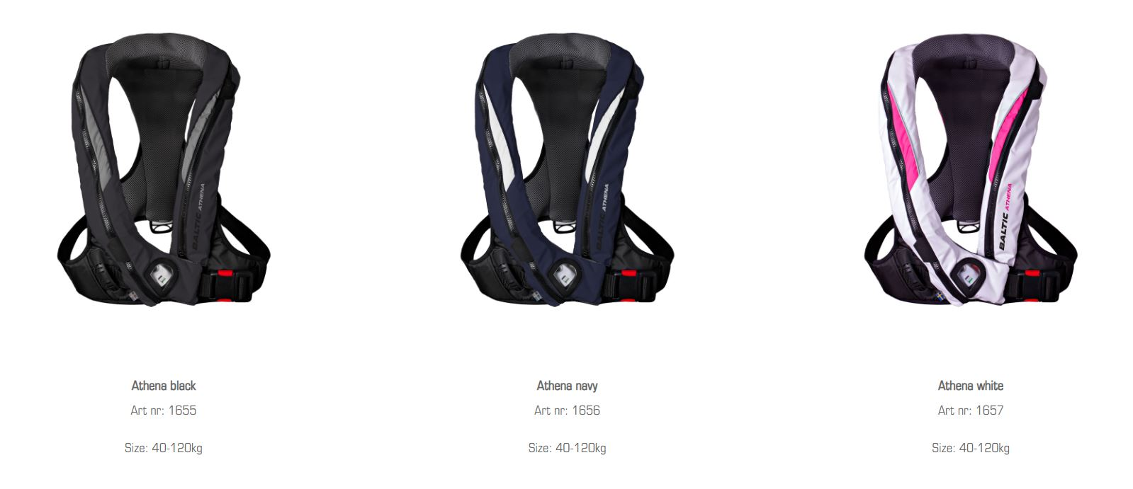 Baltic Lifejackets Athena colors